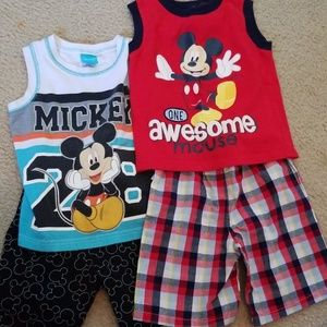2 Disney Mickey mouse outfits